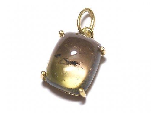 【動画】【1点もの】宝石質バイカラートルマリンAAA- ペンダントトップ 18KGP製 NO.123