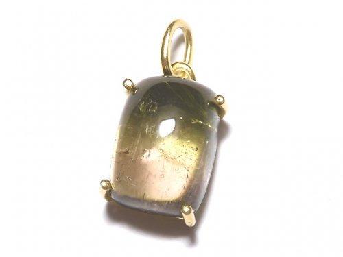 【動画】【1点もの】宝石質バイカラートルマリンAAA- ペンダントトップ 18KGP製 NO.124