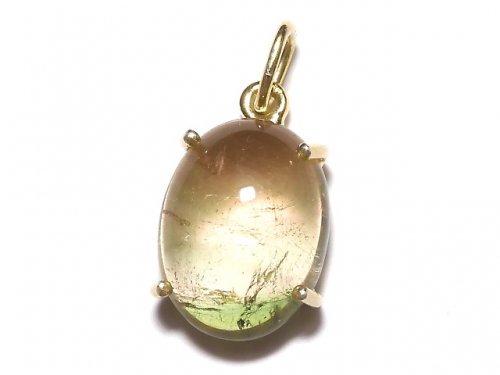 【動画】【1点もの】宝石質バイカラートルマリンAAA- ペンダントトップ 18KGP製 NO.125