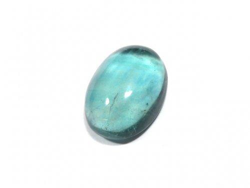 【動画】【1点もの】宝石質ブルーグリーンフローライトAAA カボション 1粒 NO.179