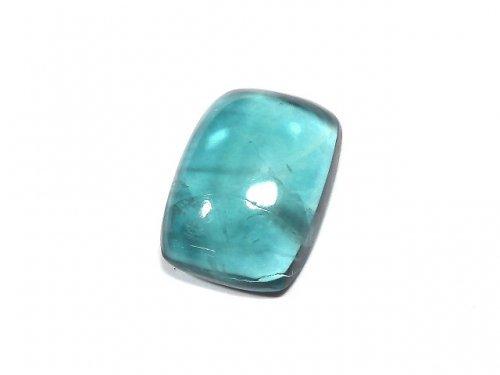 【動画】【1点もの】宝石質ブルーグリーンフローライトAAA カボション 1粒 NO.185