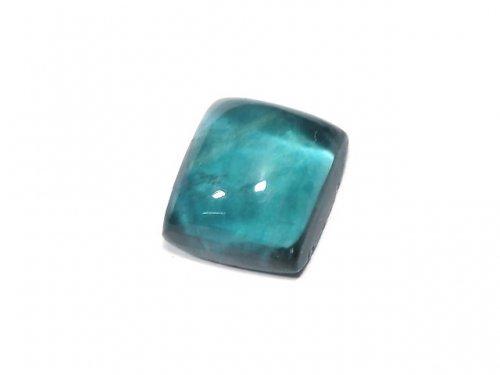 【動画】【1点もの】宝石質ブルーグリーンフローライトAAA カボション 1粒 NO.186