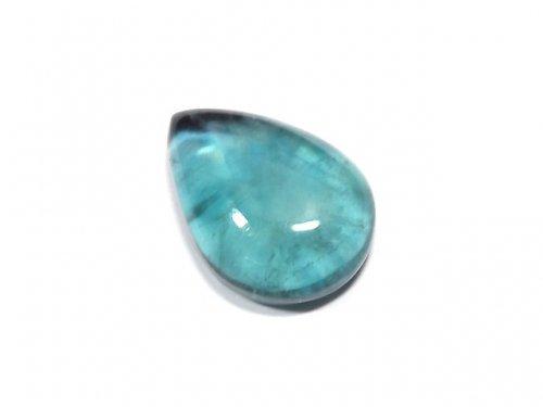 【動画】【1点もの】宝石質ブルーグリーンフローライトAAA カボション 1粒 NO.187
