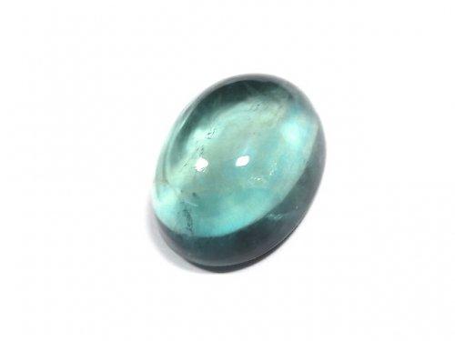 【動画】【1点もの】宝石質ブルーグリーンフローライトAAA カボション 1粒 NO.190