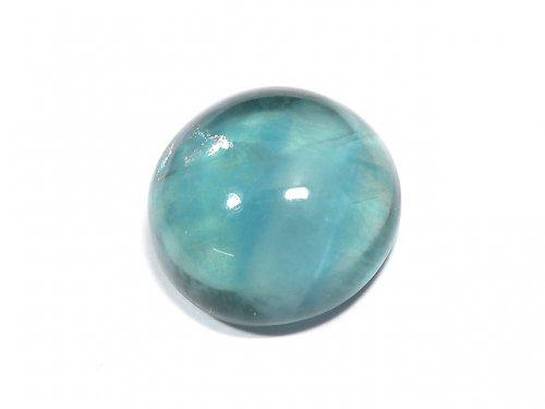 【動画】【1点もの】宝石質ブルーグリーンフローライトAAA カボション 1粒 NO.192