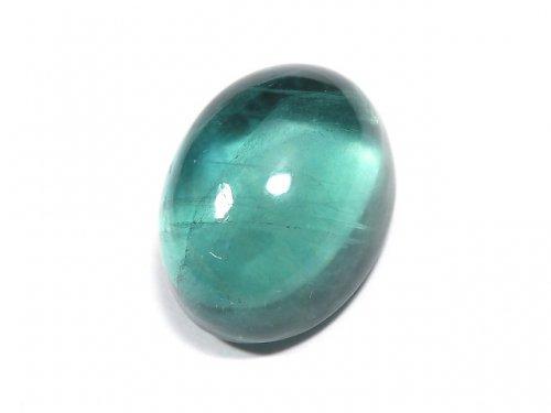 【動画】【1点もの】宝石質ブルーグリーンフローライトAAA カボション 1粒 NO.194
