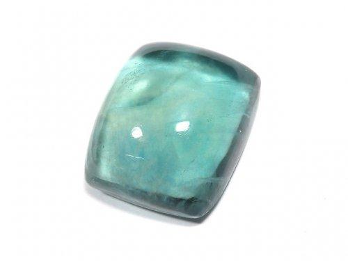 【動画】【1点もの】宝石質ブルーグリーンフローライトAAA カボション 1粒 NO.195