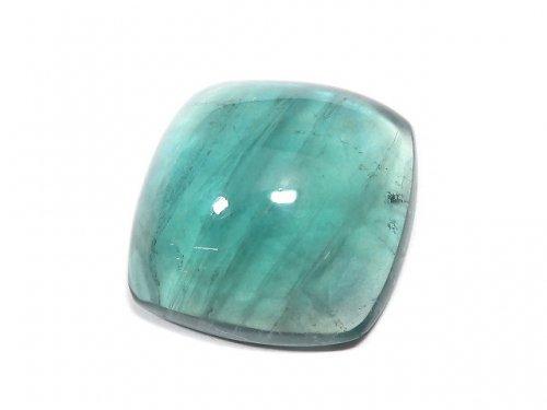 【動画】【1点もの】宝石質ブルーグリーンフローライトAAA カボション 1粒 NO.196