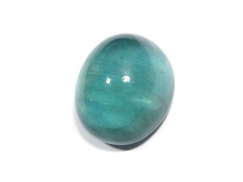 【動画】【1点もの】宝石質ブルーグリーンフローライトAAA カボション 1粒 NO.198
