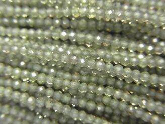 【動画】【素晴らしい輝き】宝石質グリーンサファイアAAA 極小ラウンドカット2mm 1連(約29cm)