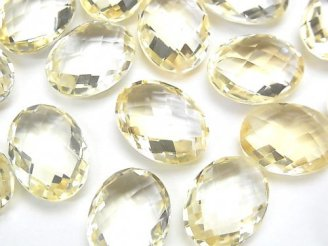 【動画】宝石質シトリンAAA- 穴なしオーバルカット16×12mm 2粒