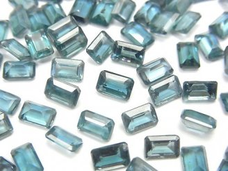 【動画】宝石質インディゴブルーカイヤナイトAAA- 穴なしレクタングルファセットカット6×4mm 4粒