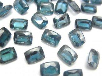 【動画】宝石質インディゴブルーカイヤナイトAAA- 穴なしレクタングルファセットカット8×6mm 2粒