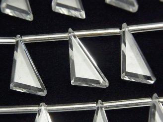 【動画】宝石質クリスタルAAA フラット トライアングル18×10mm 1連(9粒)