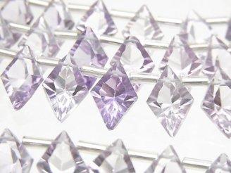 【動画】宝石質アメジストAAA ダイヤ コンケーブカット12×8mm 1連(13粒)