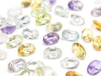 【動画】宝石質いろんな天然石AAA オーバル ファセットカット6×4mm 10粒・1連(ブレス)