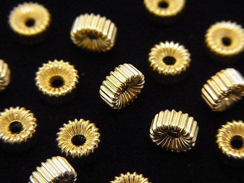 【K14 Yellow Gold】 ライン入りロンデル 【3×1.5mm】【4×2mm】【5×2mm】 1粒