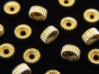 【K14 Yellow Gold】 ライン入りロンデル 【3×1.5mm】【4×2mm】【5×2mm】 1粒300円〜!