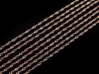 天然石卸 K18PG ネックレス デザインチェーン 1本(約40cm)