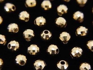 天然石卸 K14YG ラウンドカットビーズ【2mm】【2.5mm】【3mm】【4mm】 1粒220円〜!