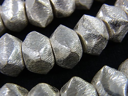 コッパー(銅) 変形スクエアロンデル12×12×9mm シルバー 半連/1連(約18cm)