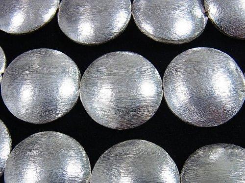 コッパー(銅) コイン形状26×26×8mm シルバー 2粒〜1連(約36cm)