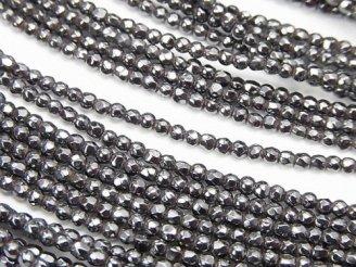 天然石卸 ◆磁気入り◆1連880円!ヘマタイト 極小ラウンドカット2mm 1連(約38cm)