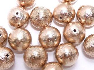 天然石卸 粒売り!メテオライト(ムオニナルスタ隕石) ラウンド12mm ピンクゴールドカラー 1粒5,980円