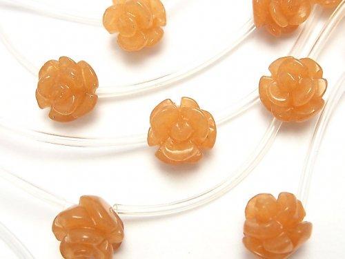 オレンジアベンチュリン 薔薇(ローズ)8mm・12mm 1連(約34cm)