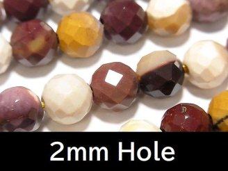 ムーアカイト(モーカイト) 64面ラウンドカット10mm 【2mm穴】 1連(約38cm)