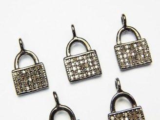 天然石卸 ダイヤモンド ハンドバック(鞄)モチーフ チャーム11×8×1.5mm Silver925製 1個3,480円!