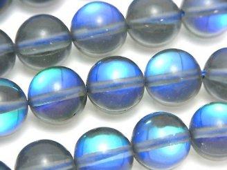 天然石卸 ブルールナフラッシュ ラウンド12mm 半連/1連(約36cm)