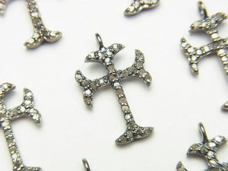 天然石卸 ◆SALE◆ダイヤモンド クロス チャーム 18×12×2 Silver925製 1個3,980円!