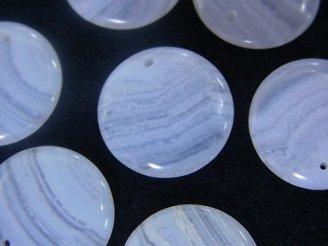 天然石卸 ブルーレースAAA コイン 【10mm】【15mm】 半連/1連(約8cm)