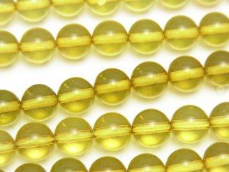 天然石卸 グリーンアンバーAAA ラウンド7.5mm 5粒〜1連(約38cm)