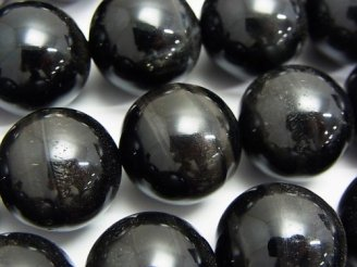 天然石卸 ブラックタイガーアイAAA ラウンド18mm 1/4連〜1連(約37cm)