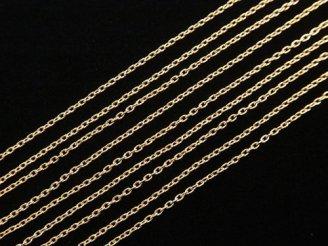 天然石卸 【K18 Pink Gold】 小豆(あずき)チェーン チェーン径0.8mm 10センチ1,980円!