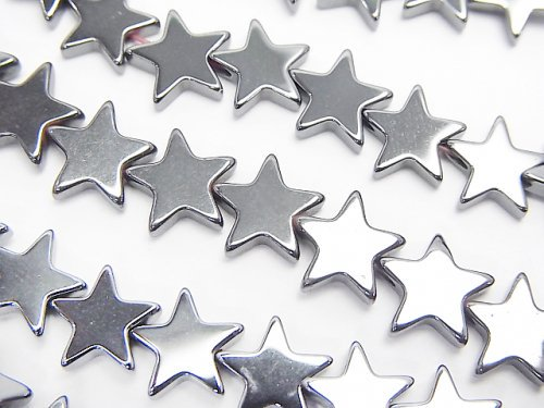 【値下成功】ヘマタイト ★スター(星)8×8×2mm  1連(約38cm)