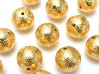 天然石卸 粒売り!メテオライト(ムオニナルスタ隕石) ラウンド10mm ゴールドカラー 1粒3,480円!