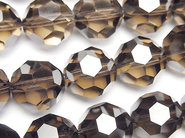 希少品!スモーキークォーツAAA+ 「バッキーボール」ラウンドカット16mm 1/4連〜1連(約38cm)