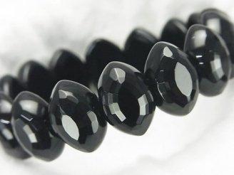 天然石卸 1連1,580円!オニキス 2つ穴マーキスカット19×12×8mm 1連(ブレス)