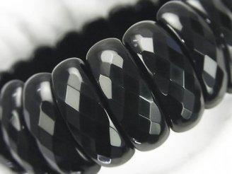 天然石卸 1連1,980円!オニキス 2つ穴縦長オーバルカット25×10×7mm 1連(ブレス)