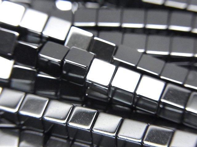 ヘマタイト キューブ4×4×4mm  1連(約38cm)