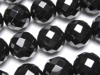 天然石卸 オニキス 64面ラウンドカット18mm 1/4連〜1連(約35cm)