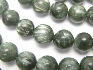 天然石卸 セラフィナイトAAA ラウンド10mm 1/4連〜1連(約36cm)