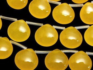 天然石卸 1連780円!ハニーカラージェード マロン15×15×6mm 1連(約38cm)