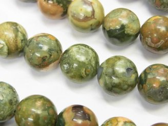 天然石卸 ライオライト 大粒ラウンド12mm 1/4連〜/1連(約36cm)