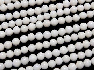 天然石卸 1連780円!ホワイトオニキスAAA 極小ラウンド3mm 1連(約38cm)