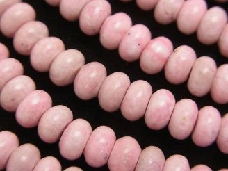 天然石卸 1連1,180円!ペルー産ロードナイトAA ロンデル6×6×4 1連(約38cm)