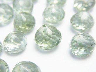 天然石卸 粒売り!宝石質グリーンアメジストAAA〜AAA- オニオン ブリオレットカット 5粒1,980円!